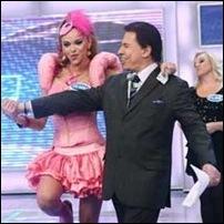 Silvio Santos e Leo Áquilla