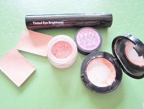 erase paste, bobbi brown corrector, tinted eye brightener, nars custard and ginger, bitsandtreats