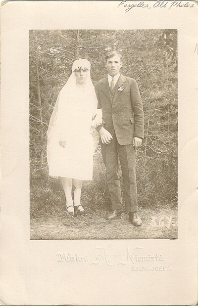Finnish wedding photo Brainerd Antiques