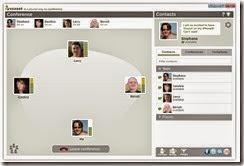تطبيق Voxeet أثناء إجراء إجتماع مع العديد من الأشخاص
