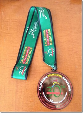 CIM 2012 Finishers Medal