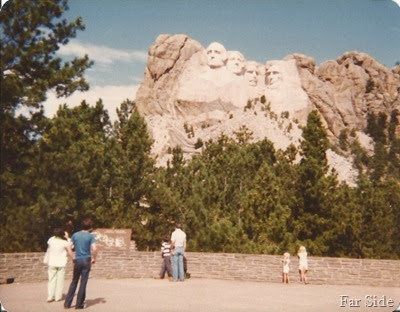 Trica and Jen at Mount Rushmore Black Hills SD  1978