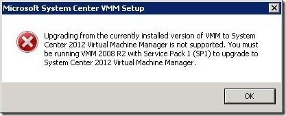 VMM2012RC2RTMError