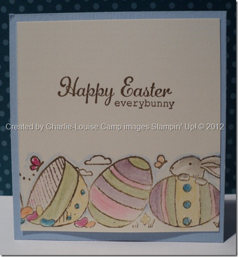 CharlieCamp Stampin Up everybunny convention swap 2