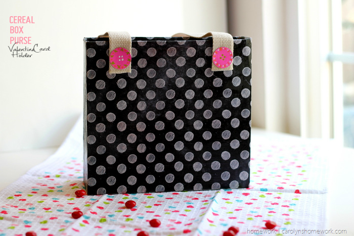 Cereal Box Purse  - Valentine's Day Child Tote via homework (3)