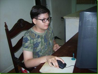 Óculos no computador
