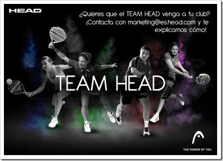 """La firma HEAD te acerca a sus jugadores con su lema: """"Tu pones la idea, HEAD la materializa"""""""