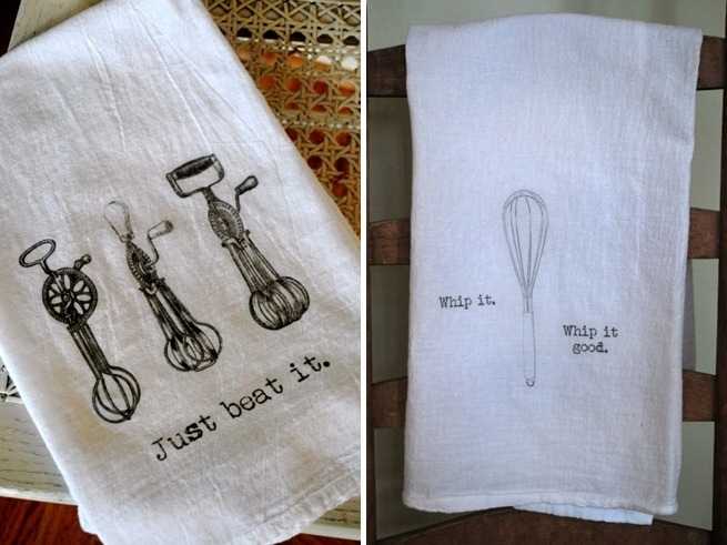 Tea Towels by French Silver