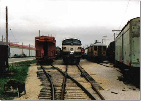 Burlington Northern F9-2 BN-1 at the Illinois Railway Museum on May 23, 2004
