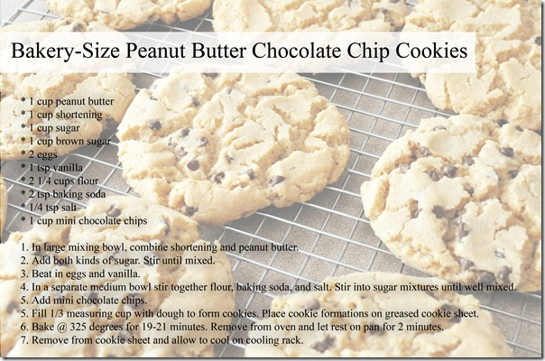 Peanut Butter Cookies Recipe Card copy