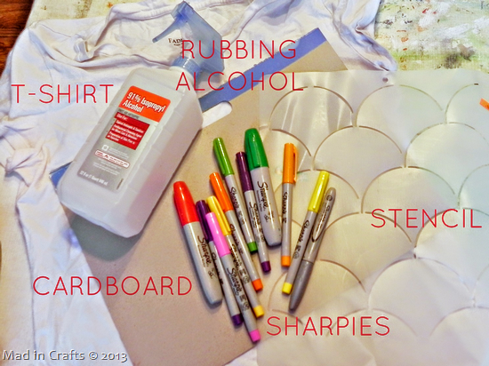Materials for Seuss Sharpie Shirt