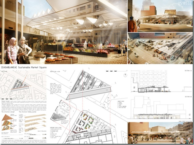 CASABLANCA_international architecture competition_AC-CA_Plaza de un Mercado Sustentable_Sustainable Market Square _Place d'un Marché Ecologique_Mencion de Honor_2