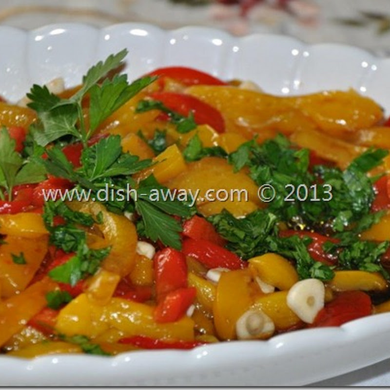 Roasted Peppers Salad Recipe