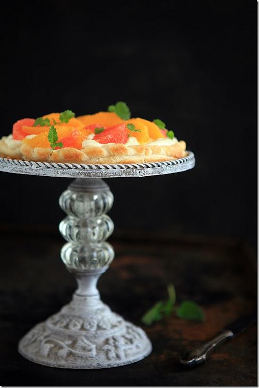 Ciasto francuskie z mascarpone i cytrusami (6)