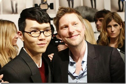 Burberry Prorsum Menswear Spring-Summer 2014 Show - Khalil Fong  Burberry Chief Creative Officer Christopher Bailey