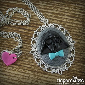 Darth Vader Inspired Cameo Necklace from Rapscallion Design