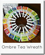 ombre tea wreath