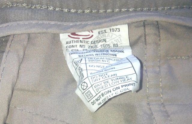 label baju