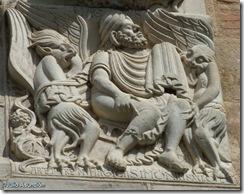 Mago Simón entre demonios - Basílica de Saint Sernín