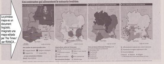 mapa d'Ivòria editada per Le Monde