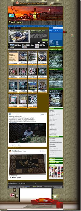 website toko online Batik Yogya Etnic style batik sogan Yogya