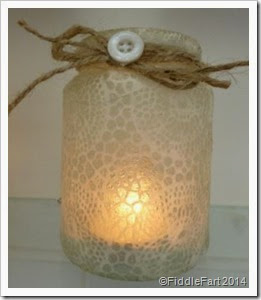Lace effect tealight holder