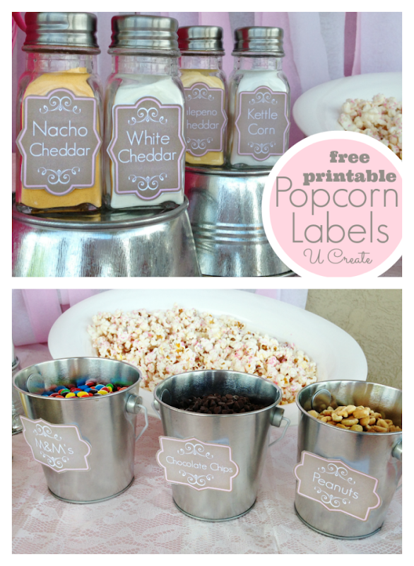 "Ready to ""POP"" baby shower - free popcorn shaker printables"