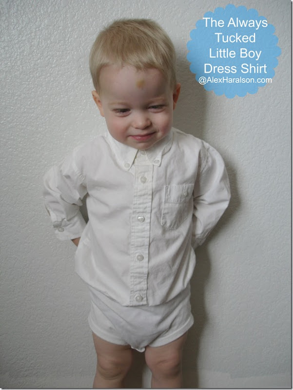 Always Tucked Little Boy's Dress Shirt12