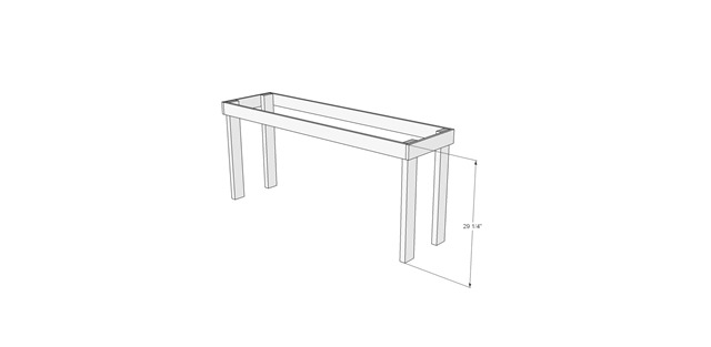 Craft Table Legs