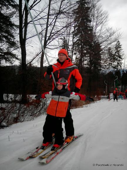 Jedziemy (tfu, lecimy!) - samolocik Cysiek i pilot Pan Józek - szef szkółki narciarskiej REJA