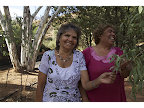 Stolen Generation sisters Elaine and Doris Stuart reunited on their country: Olive Pink Memorial Gardens Alice Springs. <em>© Juno Gemes</em>