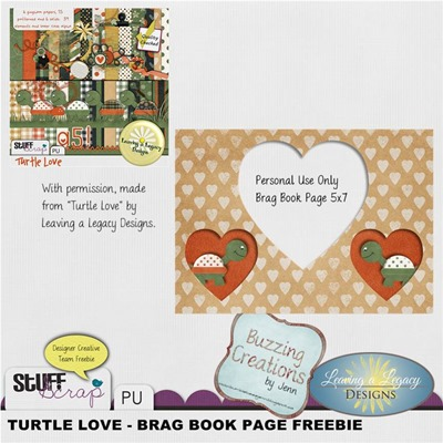 Leaving a Legacy Designs - Turtle Love - Brag Book Page Preview