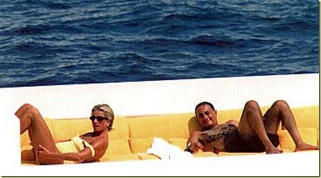 Diana y dody unos dias antes de su muerte