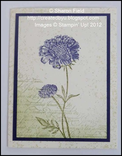 three stamp sets plus two layers for a cas field flowers card