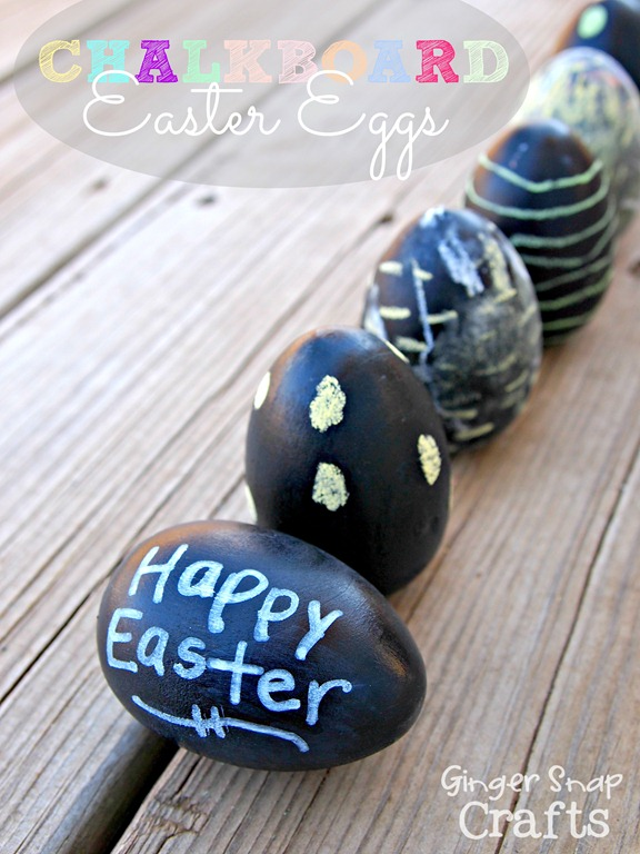 Chalkboard Easter Eggs #Easter