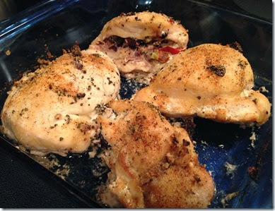 7- Mediterranean Stuffed Chicken