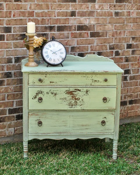 Antique Dresser Painted with Miss Mustard Seed Milk Paint