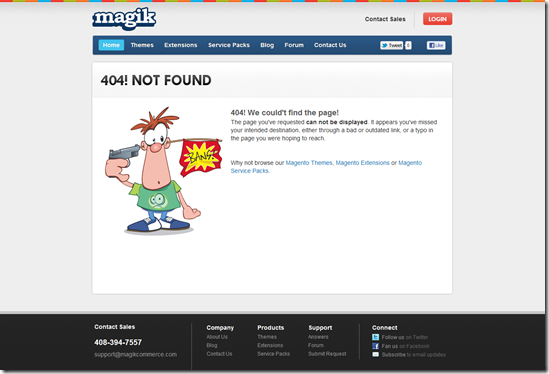 404 Error Page Design - Magikcommerce