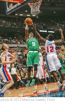 'rajon rondo, kyle singler, will bynum' photo (c) 2013, Marissa Gawel - license: https://creativecommons.org/licenses/by/2.0/