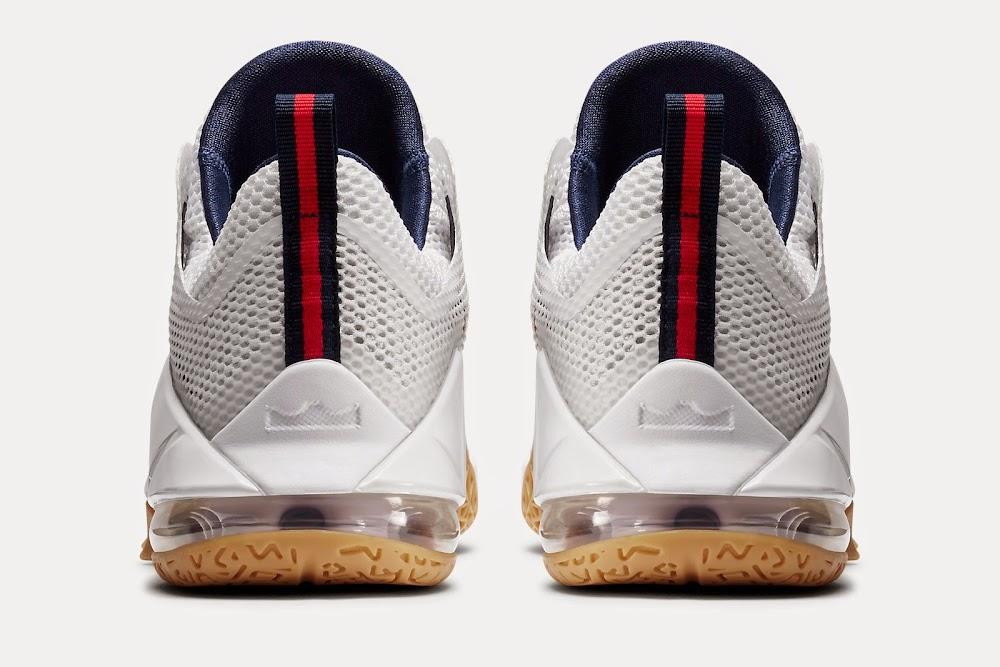 Nike LeBron 12 XII Low USA White Metallic Gold Navy Red C51u2289