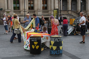 Radioactive Protest at the Suitcase Rummage