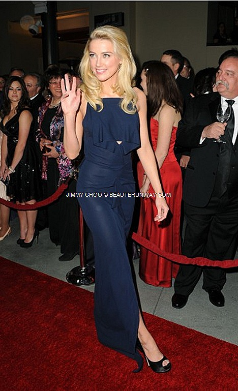 Amber Heard wore Jimmy Choo  Zodiac to the 64th Annual Directors Guild of America Awards LA