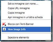 Image Size Info integrato nel menu contestuale del mouse