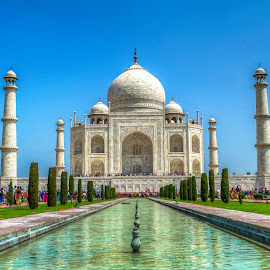 Taj Mahal by Manvendra Singh - Buildings & Architecture Statues & Monuments ( taj, taj mahal, agra, india, 7 wonders )