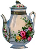 teapot ironstone vintage image graphicsfairy7