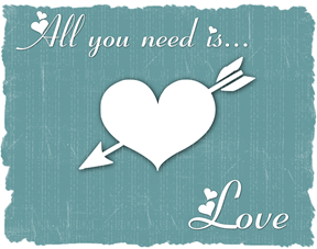 all you need is love teal