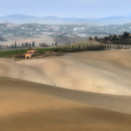 Autumn in Tuscany I by Igor Debevec - Landscapes Prairies, Meadows & Fields