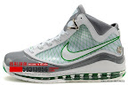 zlvii fake colorway white grey green 1 09 Fake LeBron VII