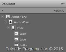 javafx fxml document