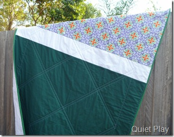 Diamond Star pieced quilt back